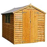 WALTONS EST. 1878 Wooden Garden Shed 8x6 Outdoor Storage Building, Overlap, Apex Roof (8 x 6 / 8Ft x...