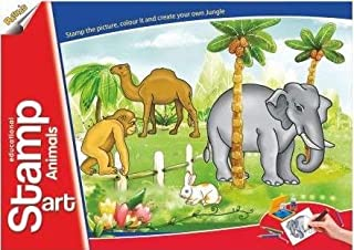 Toyztrend Educational Art & Craft Stamp Art Animals Small with 6 Different Animal Stamps for Kids Ages 4+
