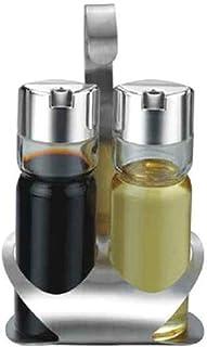Pots à épices,Conteneur à Condiments en Acier, boîte d'assaisonnement pour Cuisine, Ensemble de 2 bocaux à épices, Organis...