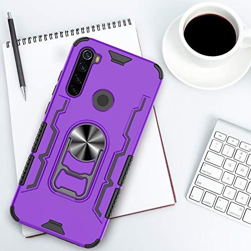 for Redmi Anmerkung 8 Stoß- PC und TPU-Schutzhülle mit Bier-Öffner & Kfz-Halter Huangchuxin (Color : Purple)