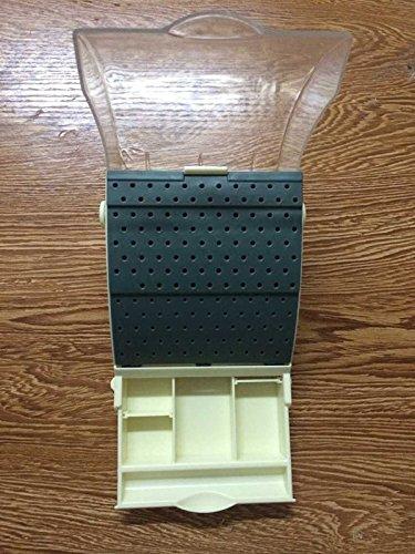 1Pc Dental Holds 142 Burs Dental Bur Block / Holder / Station with Pull out Drawer