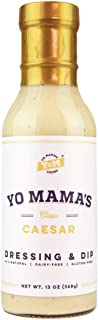 Low Carb Caesar Salad Dressing and Dip by Yo Mama's Foods   (1) Large 13 ounce Bottle   Gluten Free, All Natural, and Dairy Free!
