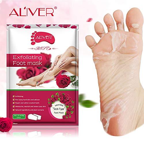 Exfoliërend voetschilmasker voor zachte voeten - verwijdert eelt, dode en droge huid - herstelt ruwe hakken - voetmasker voor vrouwen