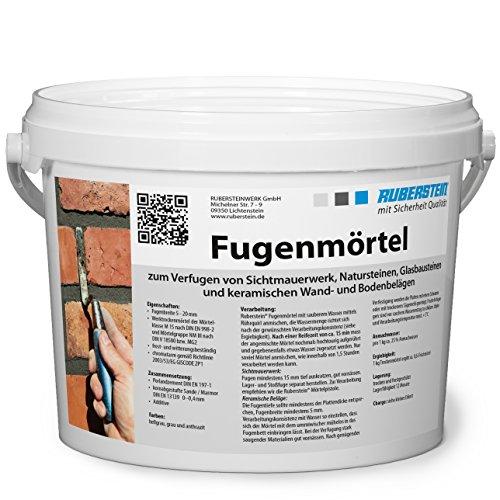 Ruberstein® Fugenmörtel grau im 2 kg Eimer