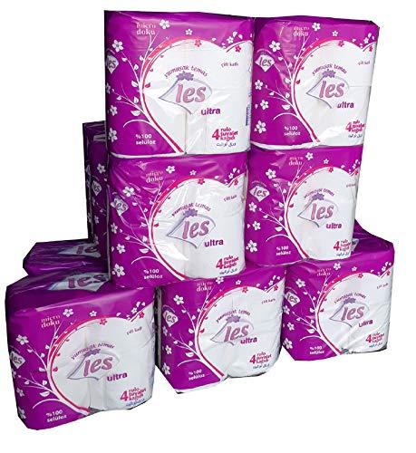 Les 72 Rollen Toilettenpapier | Klopapier | WC-Papier | 180 Blatt | Super Soft | 100% reine Cellulose | 2-Lagig