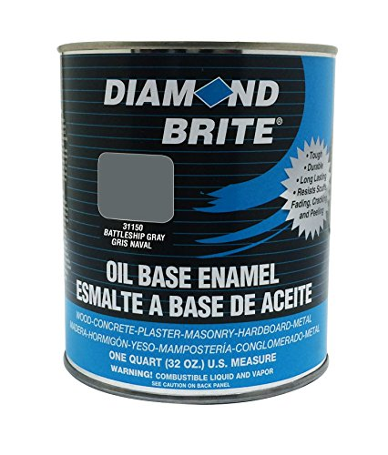 Diamond Brite Paint 31150 1 Quart Oil Base All Purpose Enamel Paint Battleship Grey