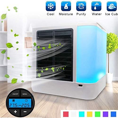 SUNNY Refrigerador de Aire evaporativo Personal y humidificador, Acondicionado portátil, enfriador USB Enfriador Espacio Rápido fácil Enfriar Cualquier Dispositivo Escritorio Oficina en cas