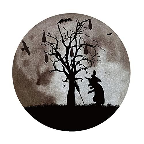 Surgewavelv Halloween Luminous Castle Bat Wizard Pegatinas de Pared Zsz2315 Pared de Fondo Pegatinas de Pared Decorativas Simples Creativas - Zsz2315 Diámetro: 29Cm