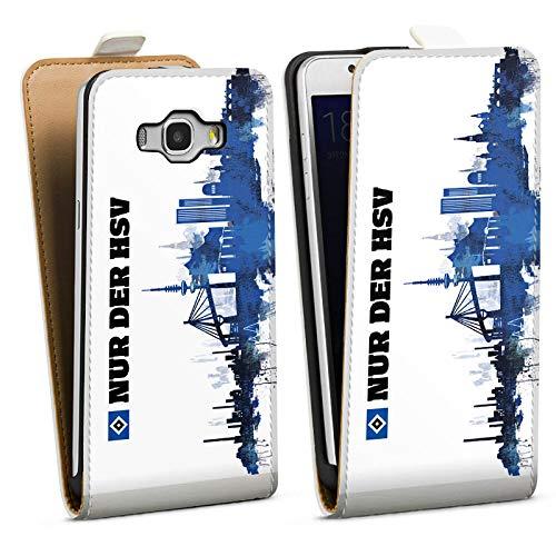 DeinDesign Tasche kompatibel mit Samsung Galaxy J5 (2016) Flip Case Hülle Offizielles Lizenzprodukt HSV Hamburger SV