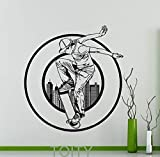 zhuziji Skateboard Skateboarder Skater Urban Style Poster Wall Sticker Sport estremi Decalcomania da Vinile Home Room122x114cm