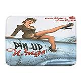 XINGAKA Alfombra de Baño Antideslizante Alfombrilla de Baño,Pin up Wings 2 Sylvester,Absorbente Tape...