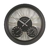 Altuna 5061001Exeter–Uhr + Thermometer schwarz