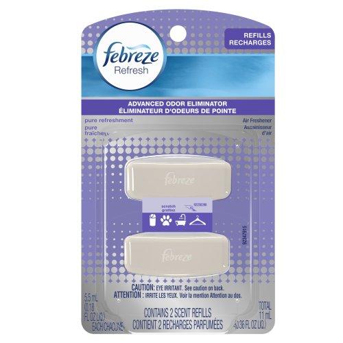 Febreze Refresh Pure Refreshment Air Freshener Refills Twin Pack, 0.36 Ounce -  3700085037