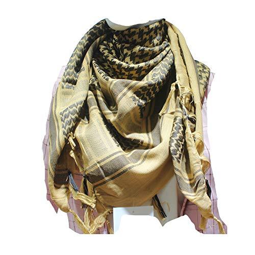 JONKUU® Halstücher PLO Schal°110x110 cm°Pali Palästinenser Arafat Tuch°100% Baumwolle - Viele Farben (bräunen, Einheitsgröße)