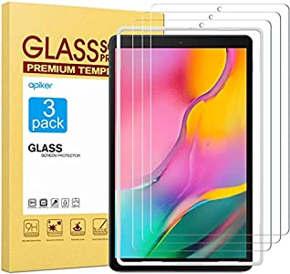 apiker [3 Packs Protector Pantalla Compatible con Samsung Galaxy Tab A 10.1 2019 (T510/T515), Cristal Vidrio Templado Premium [9H Dureza] [Alta Definición]