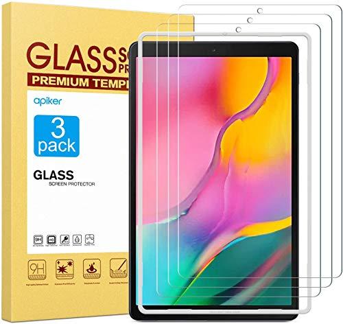 Apiker [3 Stück] Schutzfolie für Samsung Galaxy Tab A T510 / T515 [10,1 Zoll],Samsung Galaxy Tab A 10.1 2019 Panzerglas mit 9H Festigkeit,Bläschenfrei,2.5D abger&et Kante,mühelosanzubringen