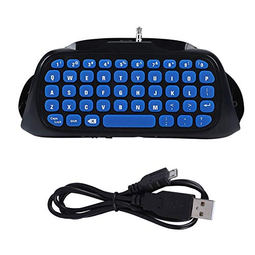 Asixx Handheld-Gamecontroller-Tastatur, 10 m Bluetooth-Griff Tastatur Sprach-/Nachrichten-Chat Gamecontroller-Tastatur für PS4/PS4 Slim-USB-Maus Handheld-Gamecontroller-Tastatur