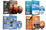 4 Disc Set Combo Pack - Beach Collection Virtual Run and Walking DVD Box Set for Treadmill,...