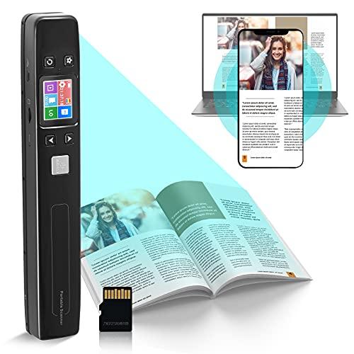 GJCrafts Scanner Portatile WiFi Display LCD in Formato JPG PDF con 16G Micro SD Card Scanner di Documenti Portatile Ricaricabile per Documenti, Libri, Immagini, Immagini