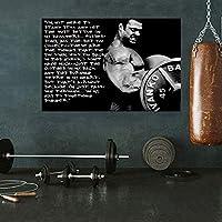 ジムダンベルワークアウトのポスターホームジムの装飾ボディービルの男性モチベーションウォールアートスポーツルームの写真行使キャンバス絵画40x60cmの W37