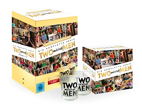 Two and a Half Men Komplettbox inkl. 2 Whiskey Gläser (exklusiv bei Amazon.de) [Limited Edition] [40 DVDs]