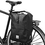 Lixada - Alforja para bicicleta (10 L, impermeable, bolsa para asiento trasero, gran capacidad, bolsa para el tronco de bicicleta, bolsa de hombro con correa para el hombro