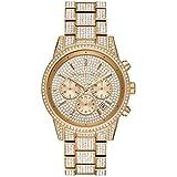 Michael Kors Women's Ritz Quartz Watch with Stainless Steel Strap, Gold, 20 (Model: MK6747)
