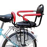 DKZK Seggiolino per Bicicletta Sedile Posteriore per Bicicletta Staffa per Bambini con Braccioli E Pedali Antiscivolo,Cinture Sicurezza per Seggiolino per Bambini 2-6 Anni