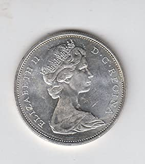 1965 Canada - Canadian Silver Dollar Coin $1 About Uncirculated