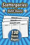 Scattergories Refill Sheet: Scattergories Score Record Book   Scattergories Score Sheet   Score Pads & Notebook   Party Game for Family & Friends   ...   130 Score pages   High-quality Glossy Cover