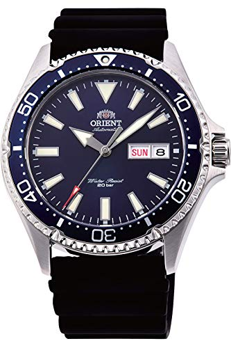 Orient RA-AA0006L Men's Kamasu Silicone Band Blue Bezel Blue Dial Automatic Dive Watch