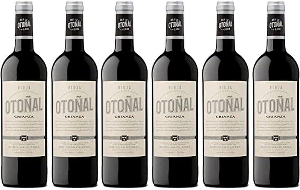 Otoñal - Vino Tinto Crianza, DOCa La Rioja, un Vino Clásico Renovado de Bodegas Olarra, Pack de 6 Botellas de 750 ml