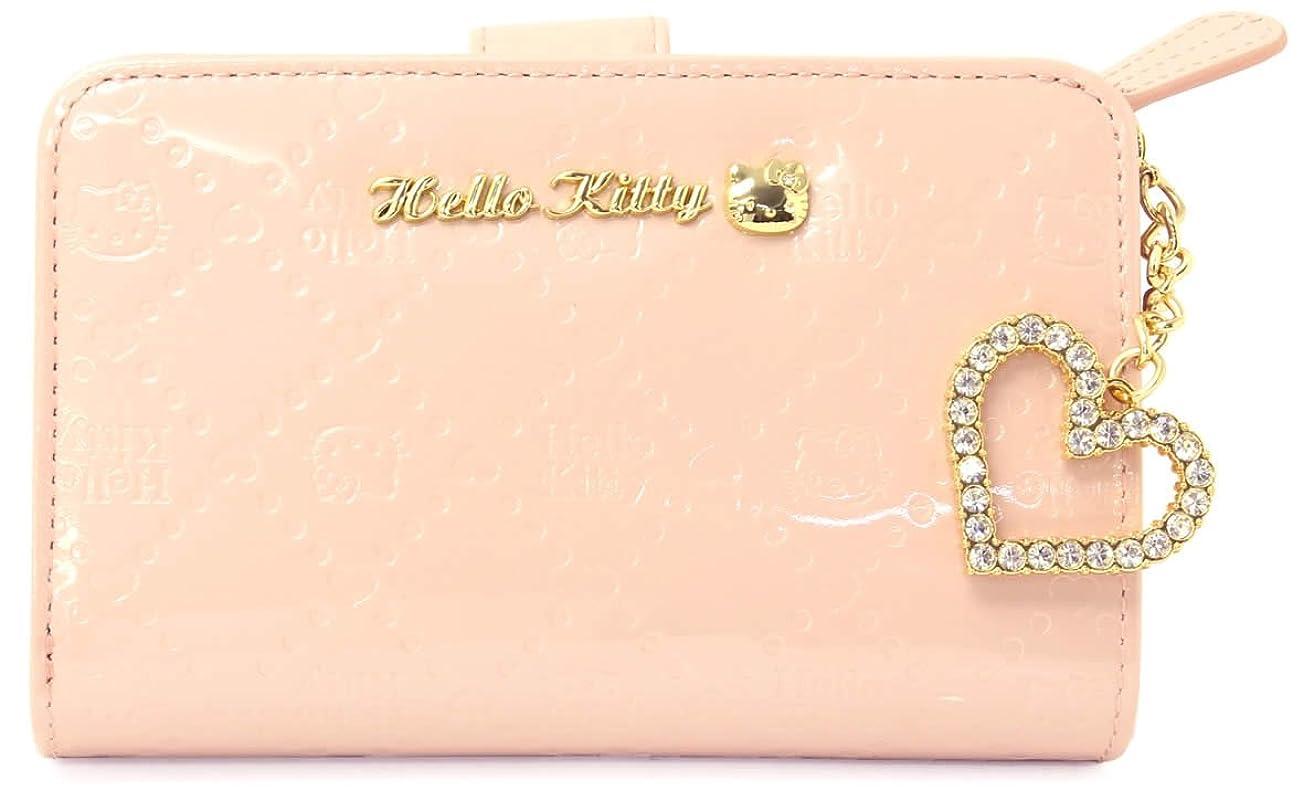 土回転拳ハローキティ Hello Kitty レディース 短財布 HKL4-1-PK ピンク