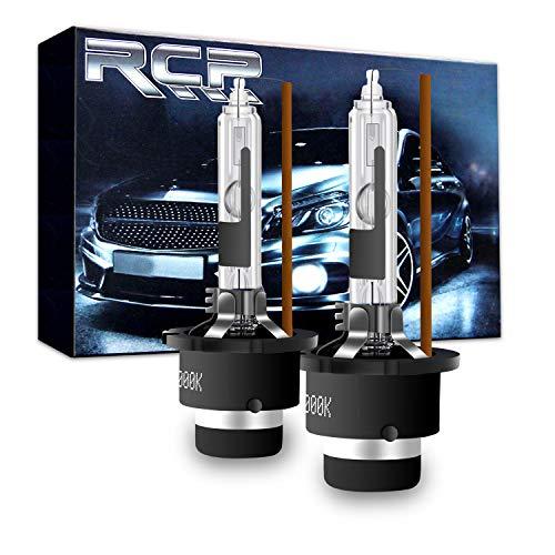 RCP - D2R4 - (A Pair) D2R 4300K Xenon HID Replacement Bulb Factory White Warm White Metal Stents Base 12V Car Headlight Lamps Head Lights 35W