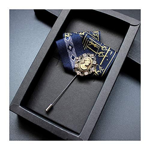 Kronleuchter Britische Herrenanzug Tasche Handtuch Boutonniere Kleid Pin Leistung Bankett Shirt Brosche (Color : A)