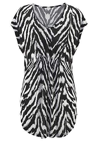 LASCANA Strandshirt mit Animalprint Zebradruck 44/46