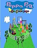 peppa pig Da Colorare: Tutti felici con questo libro da colorare di Peppa Pig, i personaggi molto amati dai Bambini