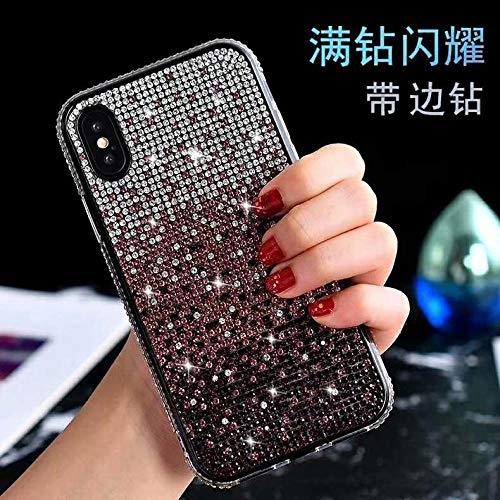 Shoujiqq Coque Phone Téléphone Mobile Pink Shell Rhinestone Gradient Créative Wear Resistant Anti Fall Soft Shell For Iphone 7 7 Plus 8 8 Plus
