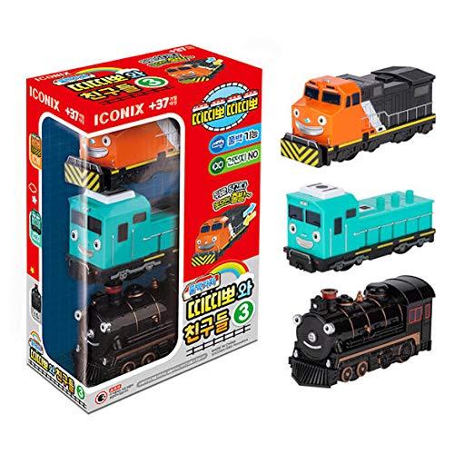 Titipo und Freunde - Juego de 3 minitrenes de juguete (3 unidades),...