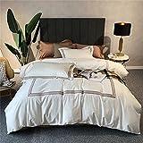 FENGCHENG 80 fourpiece Suit Long Staple Cotton Double Cotton Bedding Full Cotton Duvet Cover Lightweight Luxury Style Caqui 2 m Cama