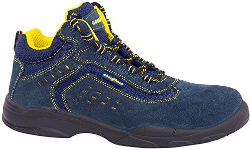 Goodyear G138842C Botas (piel serraje), Azul, 39, Set de 2 Piezas