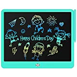 TIMMY LCD Writing Tablet Drawing Board, 15 Inch Writing Tablet Colorful Doodle Pad for Kids, Kids Early Educational Drawing Tablet Learing Toys for 3 4 5 6 Years Old Boys and Girls Gifts (Blue)