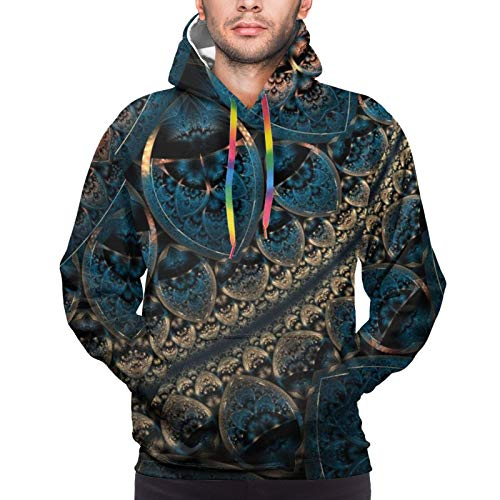 NiYoung Hip-Pop Hoodies with Pocket for Mens Boys, Trippy Psychedelic Art Drawstring Pullover Hooded Sweatshirts for Gym, Picnic, Sports, Fitted Sportswear