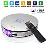 OTHA Mini Proyector Portátil 3D-Videoproyector 3500 Lúmenes Pico Proyectores, 1280x720 2GB RAM LED Cine en Casa Soporte 1080P 4K, 12000mAh Batería Proyector HDMI Bluetooth Airplay para Presentación