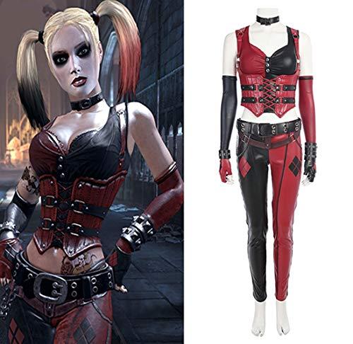 Rubyonly Batman Arkham Chevalier Costume Harley Quinn Cosplay Costume Femmes Costumes d'halloween pour Les Femmes,Fullsetnoshoes,XXXL