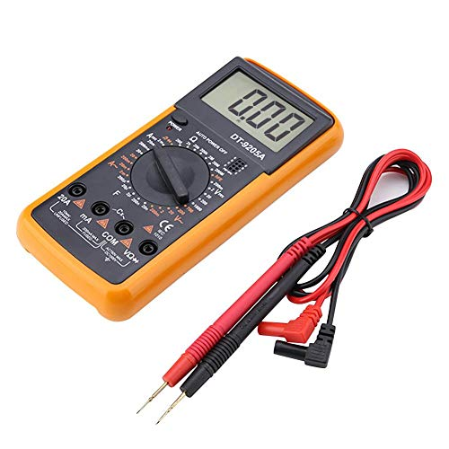 Digital-Multimeter, DT9205A LCD-Display Digital-Handmultimeter AC/DC-Widerstands-Kapazitätsprüfgerät, tragbares Taschenmessgerät Industrieausrüstung