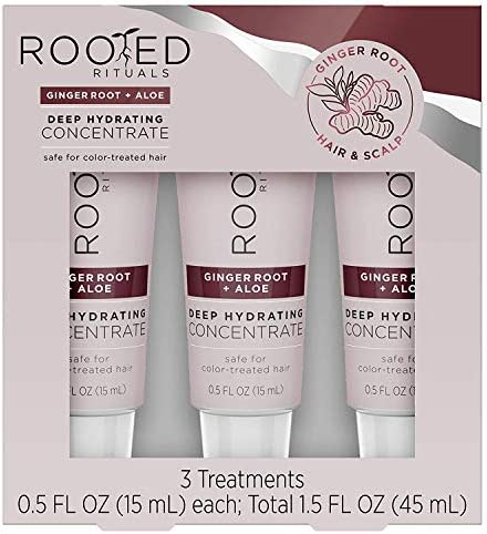 Rooted Rituals Ginger Root and Aloe Deep Hydrating Concentrate Treatment 1 5 fl oz Pack of 3 product image