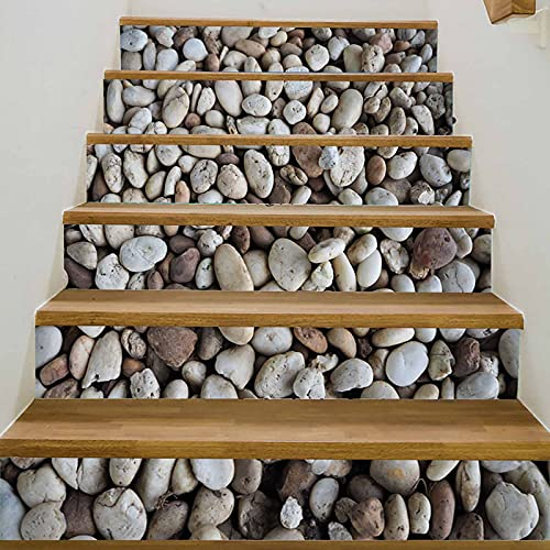 Calcomanías para escaleras (juego de 6) Pelar y pegar Azulejos de vinilo contra salpicaduras Patrón de ladrillo de escalera Elevador de escalera Calcomanías de peldaños de escalera restauradas Murales