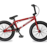 TRACER Edge 3.0 Freestyle BMX Bike for Young boy and Adult Beginner-Level to Advanced Riders Hi-Ten Steel Frame Bicycles Multiple Colors (20' - Red)