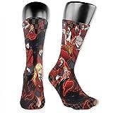 Lsjuee Saotome Yumeko Jabami Kakegurui Calcetines cómodos Calcetines cálidos Calcetines deportivos cómodos con zapatillas